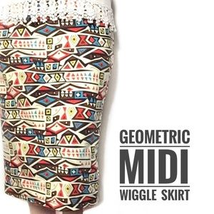 Mad Med Style Wiggle Skirt, Large